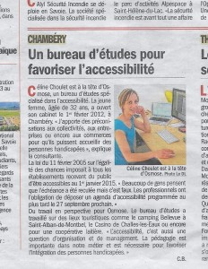 Article Dauphiné Avril 2015